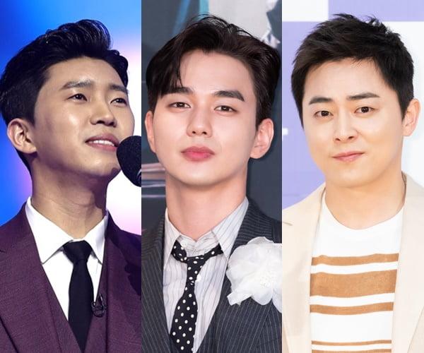 '미스터트롯'의 가수 임영웅(왼쪽부터), 배우 유승호와 조정석/사진= TV조선, tvN 제공