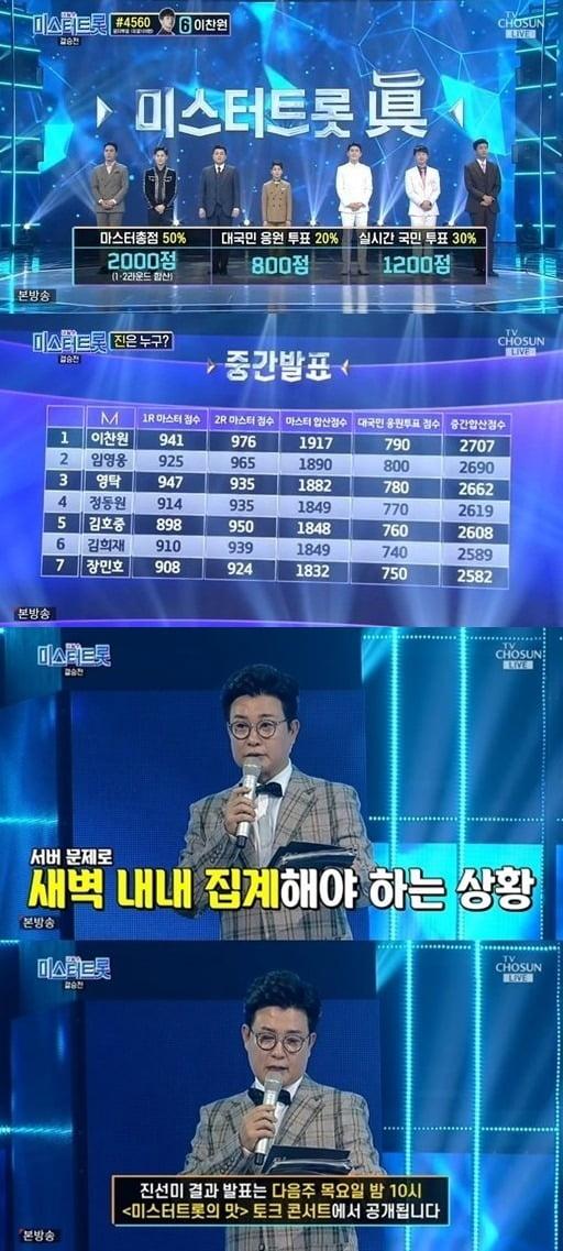 사진=TV조선 '미스터트롯' 방송 화면.