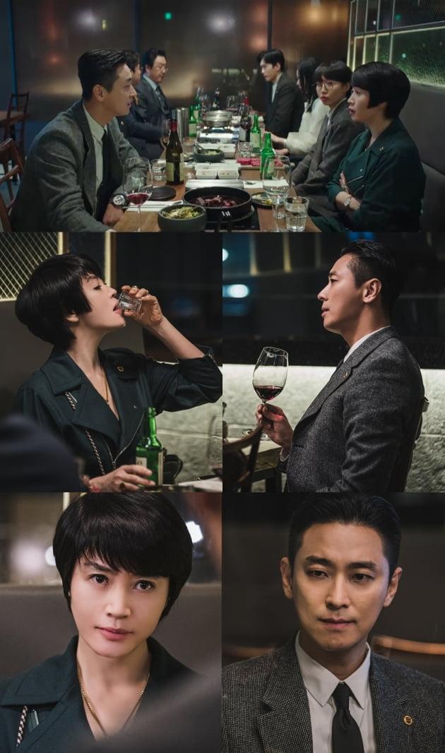 '하이에나' 김혜수X주지훈/ 사진=SBS 제공