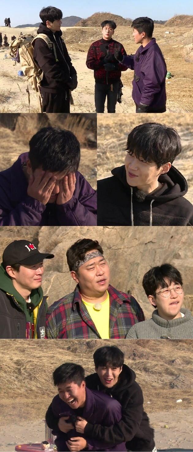 '1박 2일'에서 '김씨 동맹'을 맺은 김선호, 라비, 김종민 / 사진제공=KBS2