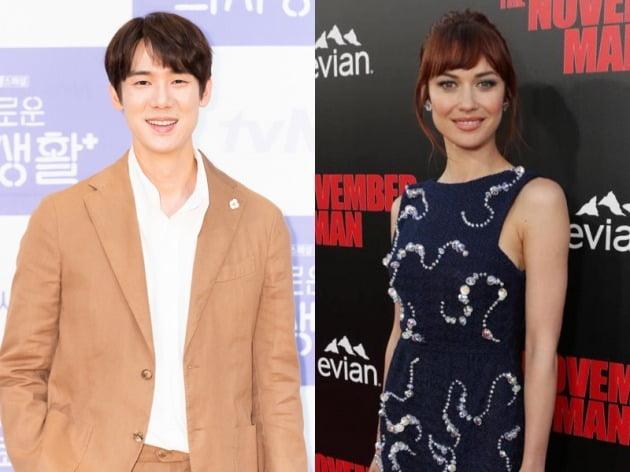 배우 유연석(왼쪽), 올가 쿠릴렌코 / 사진제공=tvN, 코리아스크린