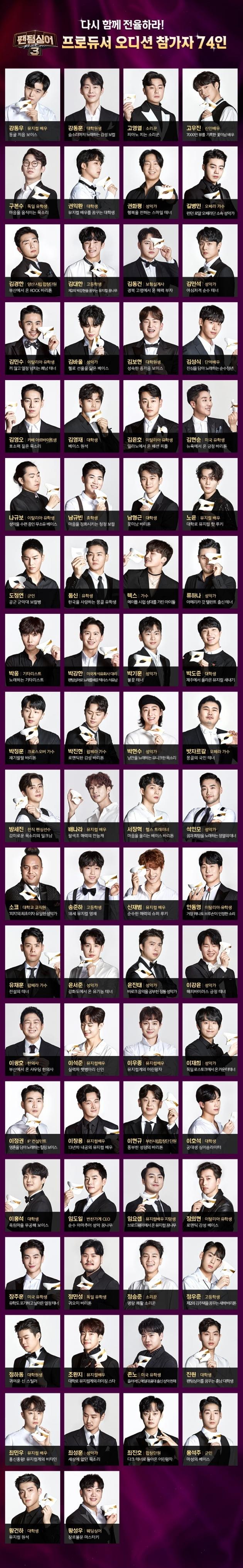 '팬텀싱어3' 프로필 / 사진 = JTBC 제공
