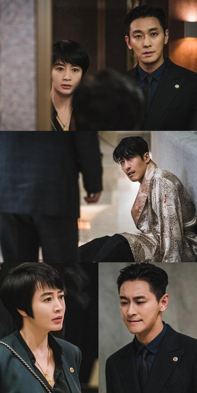 '하이에나' 김혜수와 주지훈 앞에 지현준이 다시 나타났다. /사진제공=SBS