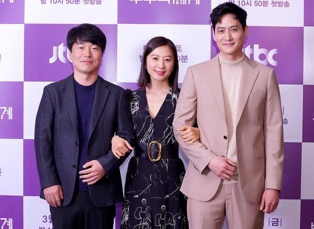 모완일 감독, 배우 김희애, 박해준./사진제공=JTBC