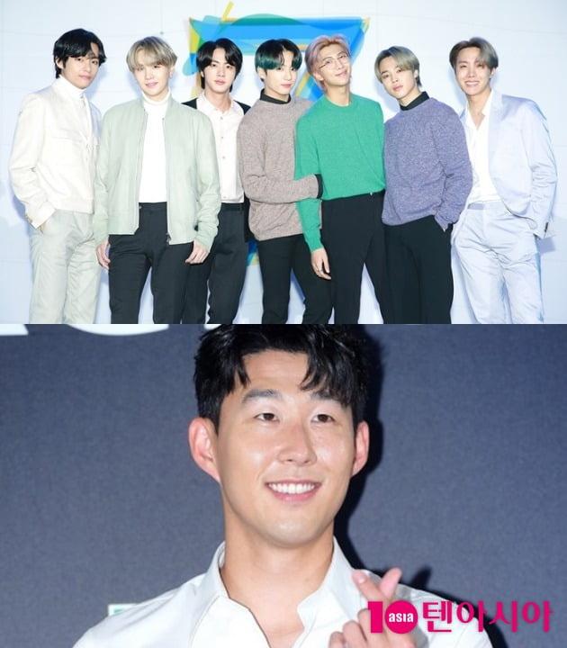 그룹 방탄소년단, 손흥민 / 사진=빅히트엔터테인먼트, 텐아시아DB