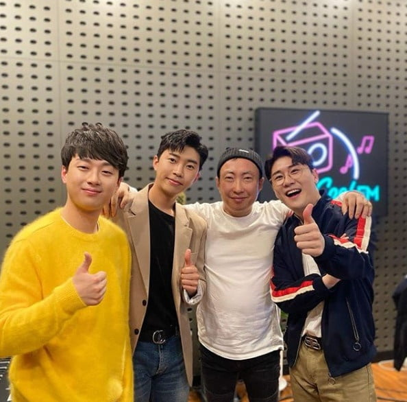 /사진=박명수가 진행하는 KBS 라디오에 출연한 '미스터트롯' 입상자들