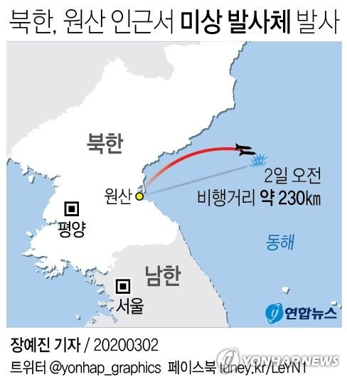 """靑, 北 발사체 관련 관계장관회의…""""강한 우려, 중단 촉구"""""""