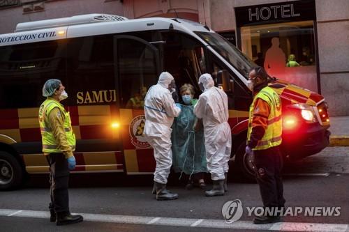 스페인 코로나19 사망자수 3천434명…중국 넘어서