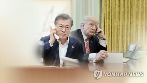 [2보] 문대통령-트럼프, 23분간 통화…'코로나 19 공조' 논의(종합)