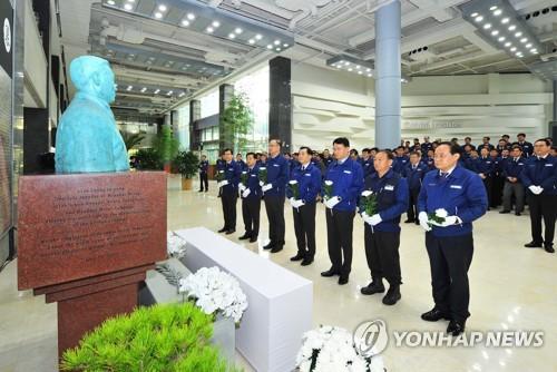 故 정주영 회장 19주기…코로나19 우려에 정몽구 불참한 듯(종합)