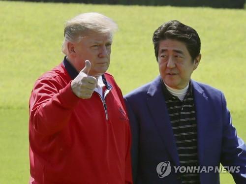 """트럼프 """"올림픽 개최, 아베가 곧 결정…내가 영향 미치면 안 돼"""""""