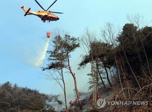 건조특보 속 양양서 산불…헬기 3대 투입해 진화 중