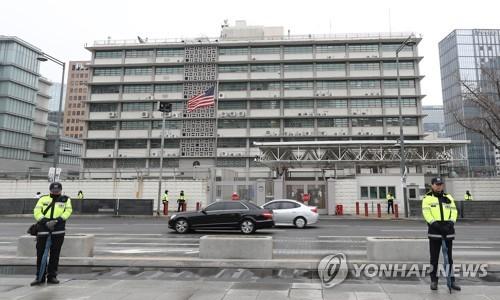 """주한미대사관 """"19일부터 비자발급업무 중단""""…90일내 방문 가능(종합2보)"""