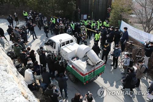 이만희 회견 예고한 가평 신천지연수원 취재진 몰려 북새통