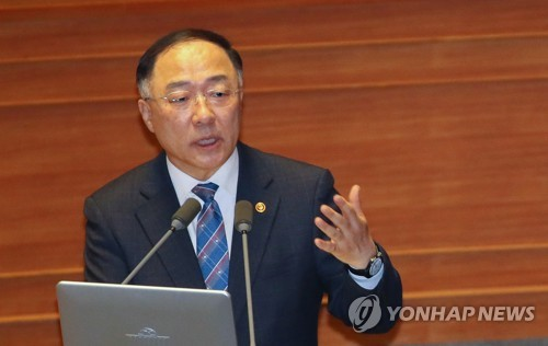 """홍남기 """"고위당정청때 '봉쇄' 단어 없었다…박능후 발언 부적절"""""""