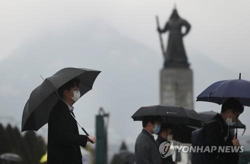 [내일날씨] 전국 곳곳에 봄비…제주도 오후부터 강풍