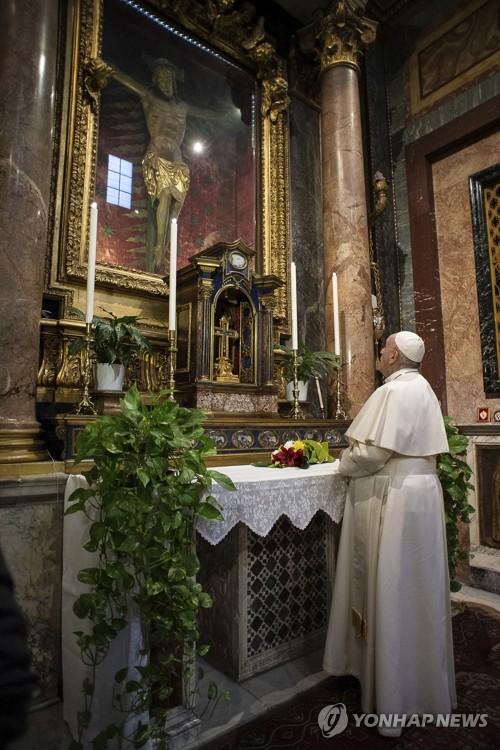 """교황 """"코로나19 멈추게 해달라고 주님께 간구"""""""