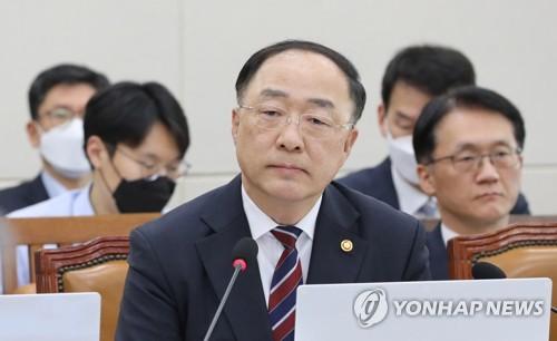 """홍남기 """"재난기본소득 많은 검토 필요…효율성·재원 고민해야""""(종합)"""