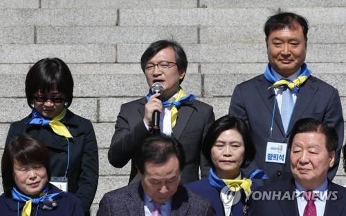 """정봉주 """"민주와 총선까지 전략적 이별""""…김의겸 """"두 개의 기둥"""""""