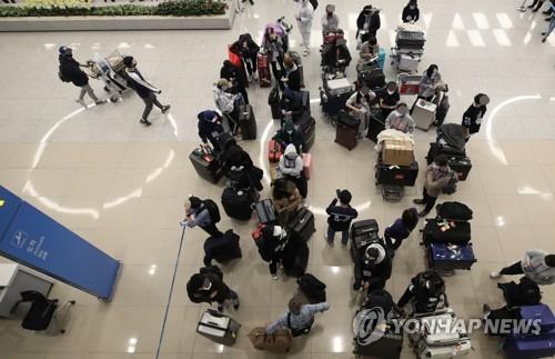 유럽발 입국자들 경기지역 임시생활시설에 속속 도착