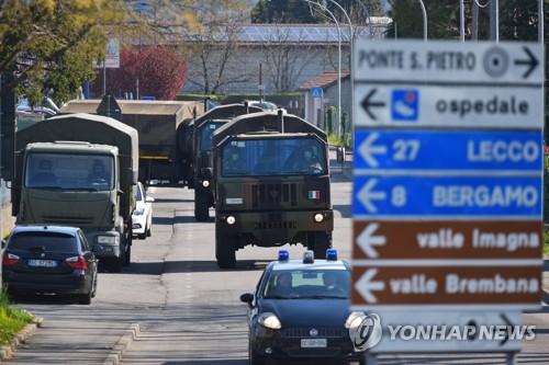 이탈리아 코로나19 치명률 10% 넘어서…누적 사망 7천503명(종합)