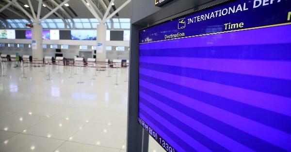 14일 오전 제주국제공항 국제선 출발 대합실이 신종 코로나바이러스(코로나19) 여파로 썰렁한 모습을 보이고 있다. 연합뉴스