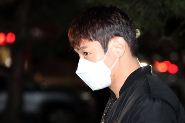 '음주운전' 경찰 조사 출석하는 환희/사진=연합뉴스