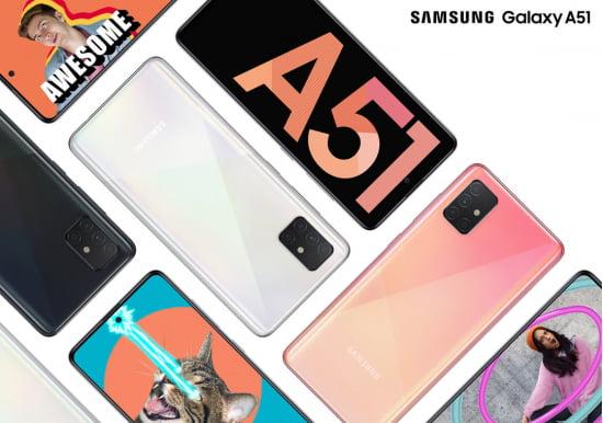 삼성전자의 보급형 5G 스마트폰 갤럭시A51.사진=삼성전자