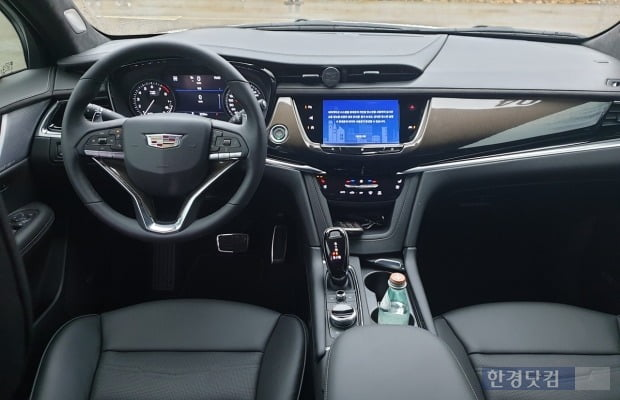 준대형 SUV 캐딜락 XT6 실내 모습. 사진=오세성 한경닷컴 기자