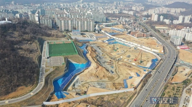 부천 일루미스테이트 3월 현재 공사현장(자료 현대건설)