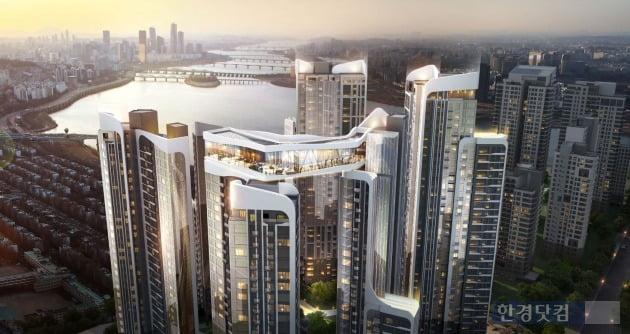 대림산업이 신반포 15차 재건축으로 제시한  '아크로 하이드원' 조감도(자료 대림산업)
