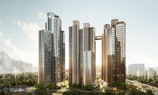 삼성물산이 신반포 15차 재건축으로 제시한  '래미안 원 펜타스' 조감도(자료 삼성물산)