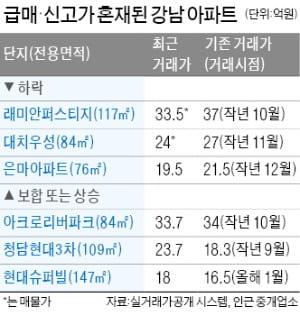 """강남 집값 혼조세…'불안한 집주인' 가격 낮추고, 현금부자 """"비싸도 산다"""""""