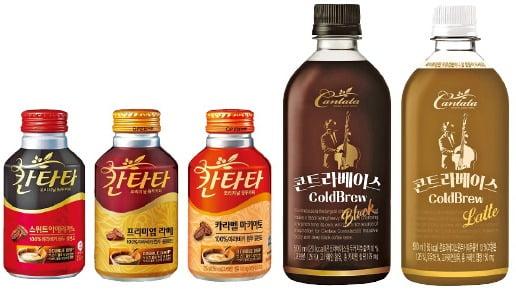 롯데칠성음료, 더블드립·콜드브루·대용량…취향따라 즐기는 칸타타