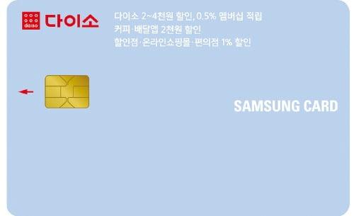 月 최대 2만원 할인…'다이소 삼성카드' 출시