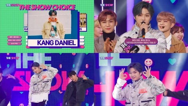 '더쇼'에서 1위를 차지한 가수 강다니엘 / 사진=SBS MTV '더쇼' 캡처