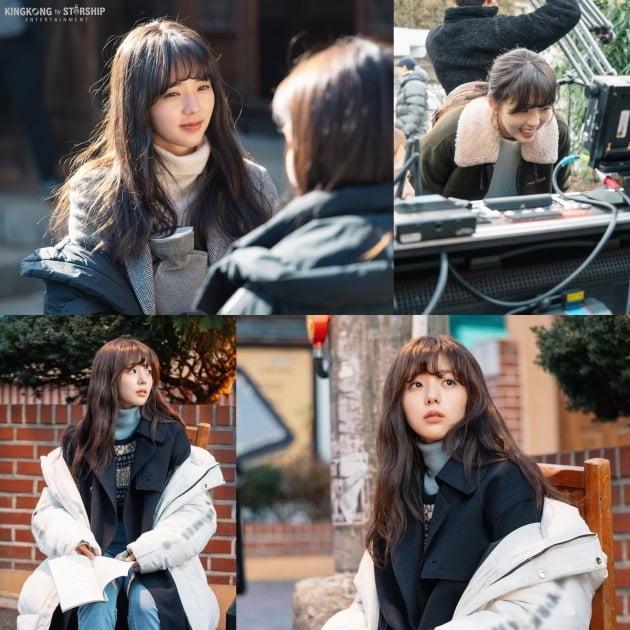 tvN '반의반' 촬영 현장 비하인드컷. /사진제공=킹콩 by 스타쉽