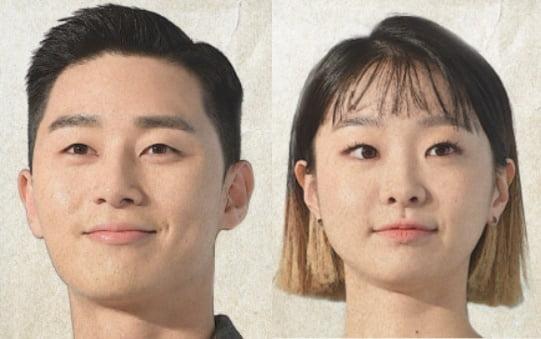 배우 박서준(왼쪽)과 김다미/ 사진=텐아시아DB