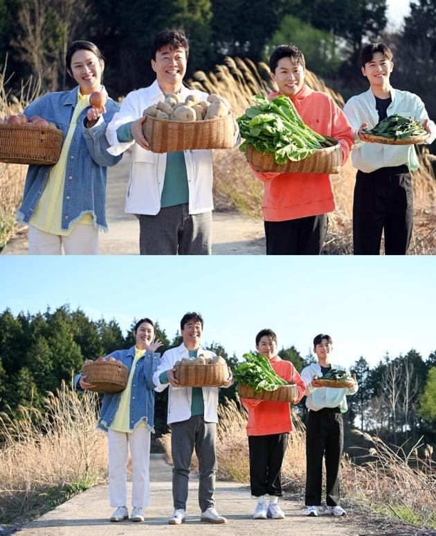 '맛남의 광장' 단체 광고 촬영./사진제공=SBS