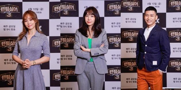옥주현(왼쪽부터), 김이나, 지용./사진제공=JTBC