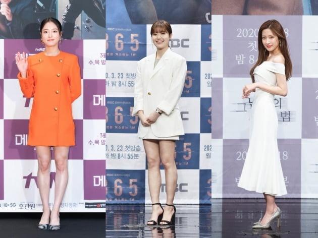 배우 이세영(왼쪽부터), 남지현, 문가영. /텐아시아DB