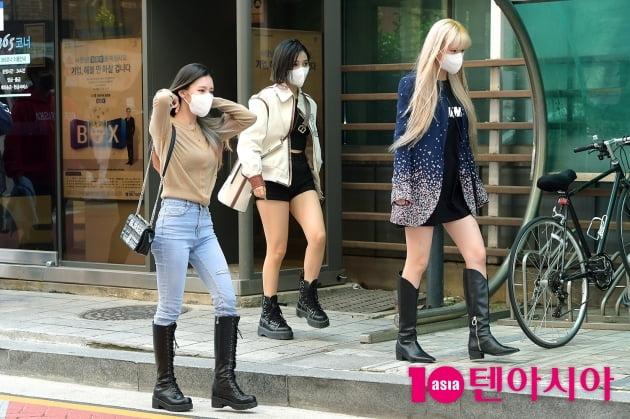 [TEN 포토] 여자아이들 미연X소연X수진 '투표하러 가는 길'
