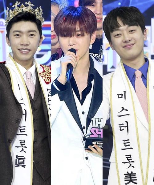 가수 임영웅(왼쪽부터), 강다니엘, 이찬원/ 사진=TV조선, 텐아시아DB