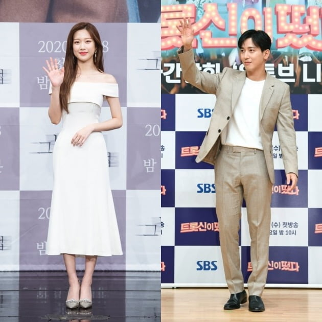 배우 문가영(왼쪽), 그룹 씨엔블루의 정용화. /사진=텐아시아DB, SBS