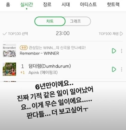 그룹 에이핑크 박초롱의 SNS