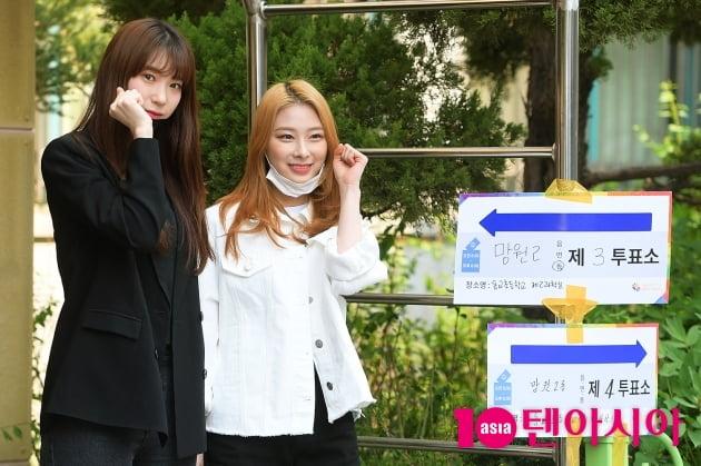 [TV텐] 로켓펀치 수윤-윤경 '첫 투표하러 온 요정들'