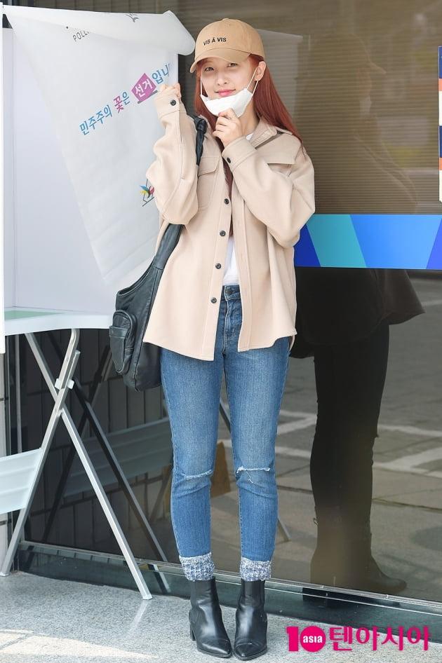 [TEN 포토] 손지현 '투표 합시다'