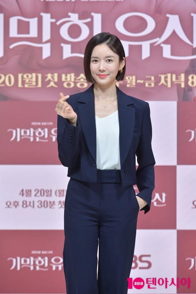 [TEN 포토] '기막힌 유산' 강세정 '일일드라마 사랑해주세요'