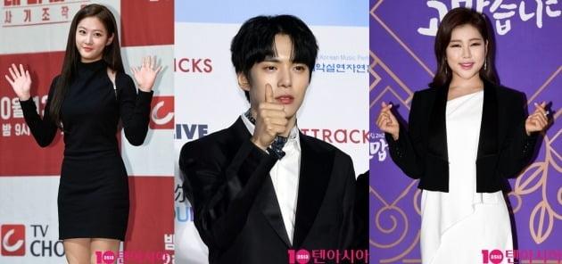 배우 김새론(왼쪽부터), 몬스타엑스 민혁, 가수 송가인./사진=텐아시아DB