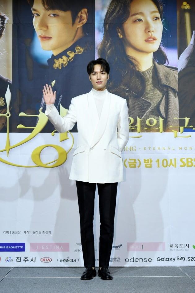 배우 이민호가 16일 오후 온라인 생중계된 SBS 새 금토드라마 '더 킹-영원의 군주' 제작발표회에 참석했다. /사진제공=SBS